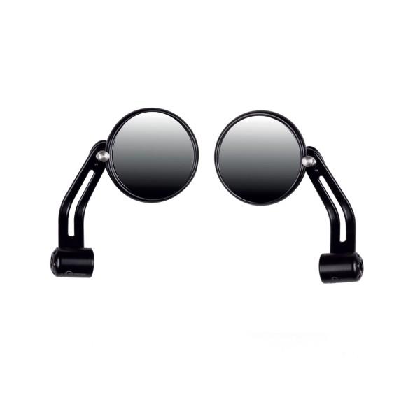 Espejo de manillar negro, aluminio para Moto Guzzi V7 I + II, V7 III