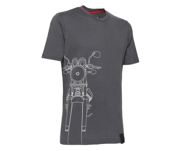 Camiseta hombre Moto Guzzi algodón gris