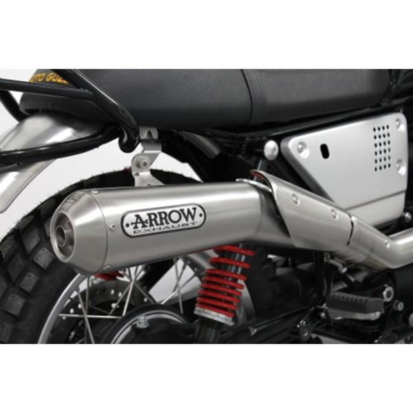 Original Moto guzzi V7 III 2018- sistema de escape Arrow, Euro 4, 2 en 1