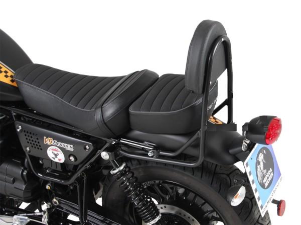 Sissy bar sin portaequipajes negro para modelo V 9 Roamer (Bj.17-) con asiento largo