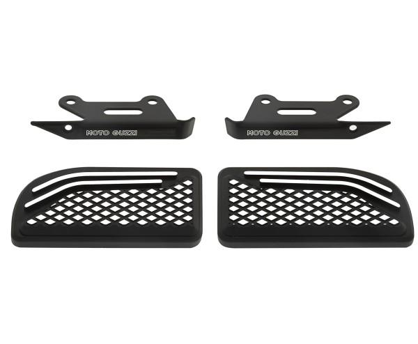 Funda de reposapiés, aluminio, negro, para pasajero para Moto Guzzi MGX 21