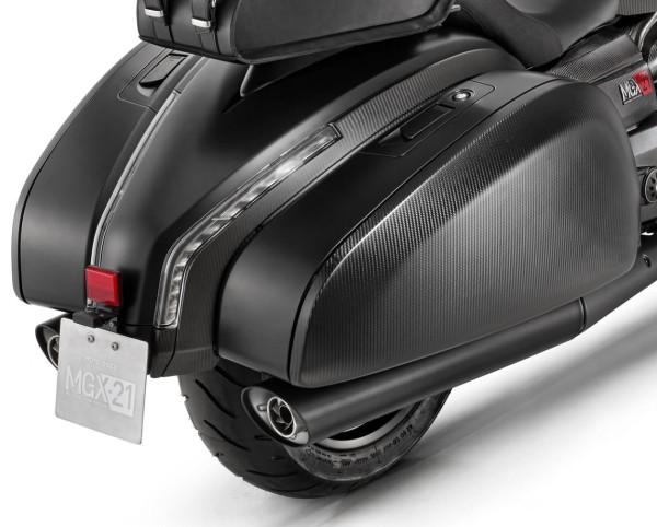 Sistema de escape original slip-on para Moto Guzzi MGX 21