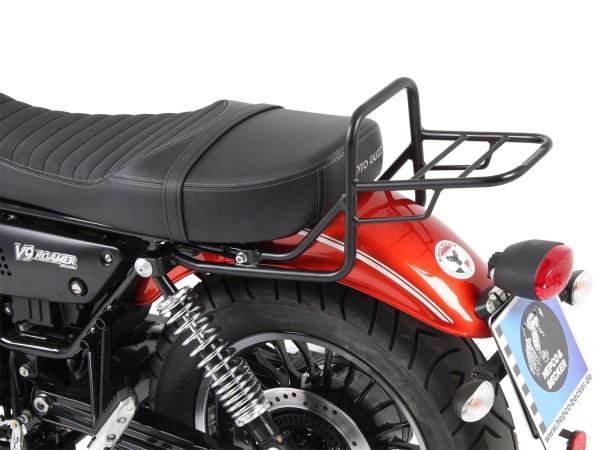 Portaequipajes tube portaequipajes top case negro para modelo V 9 Bobber (Bj.17-) con asiento largo