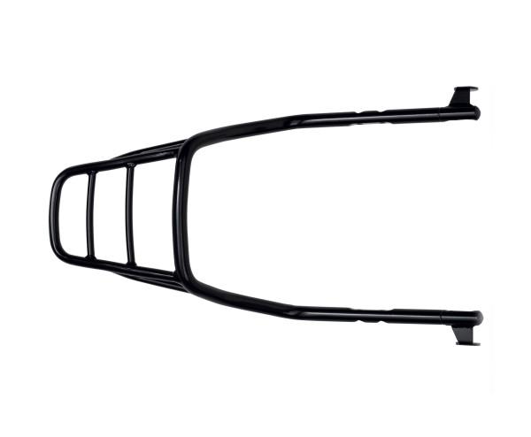 Portaequipajes rígido, negro para Moto Guzzi V9 Bobber