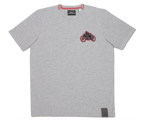 Camiseta hombre Moto Guzzi garage algodon gris