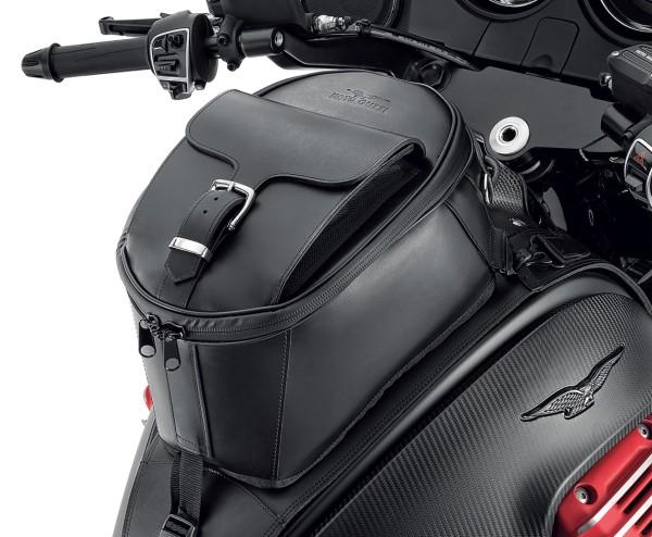 Bolsa de depósito original, piel para Moto Guzzi MGX 21