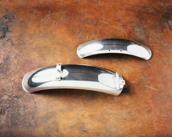 Guardabarros de aluminio, par, cromados para Moto Guzzi V7 I + II, V7 III