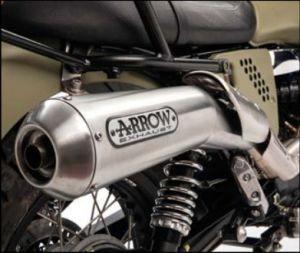 Sistema de escape original Arrow (versión ABS), slip on, Euro 3 para Moto Guzzi V7 II