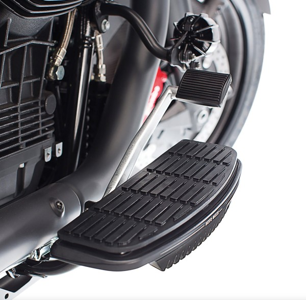 Cubre estribo, aluminio, negro para Moto Guzzi MGX 21 / Audace