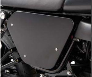 Cubiertas originales, aluminio, negras para Moto Guzzi V7 I + II