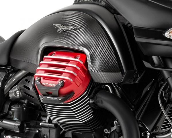 Barra de protección de aluminio, negra para Moto Guzzi MGX 21