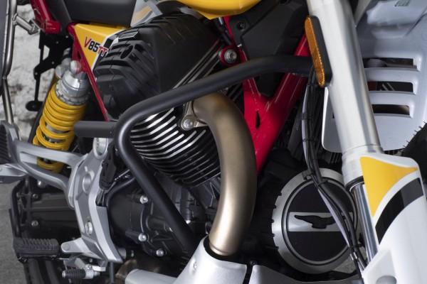 Barra de protección del motor original, negra para Moto Guzzi V85 TT
