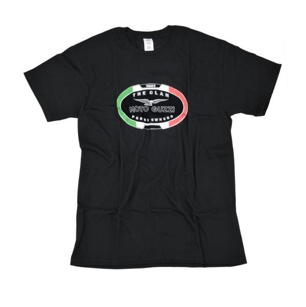 Camiseta hombre Moto Guzzi THE CLAN negro