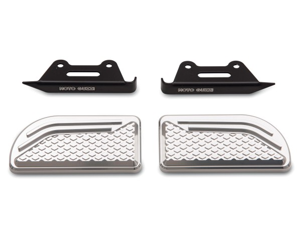 Almohadillas originales para reposapiés, aluminio para Moto Guzzi Audace