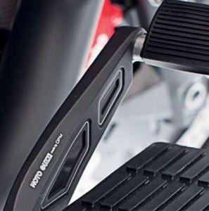 Cubierta, aluminio, negro, para palanca de freno de pie para Moto Guzzi MGX 21 / Audace