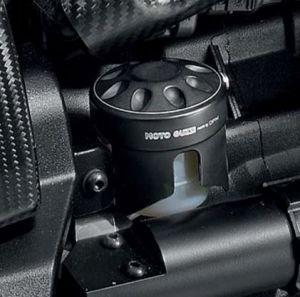 Tapa original para depósito de líquido de frenos, aluminio, negro para Moto Guzzi MGX 21
