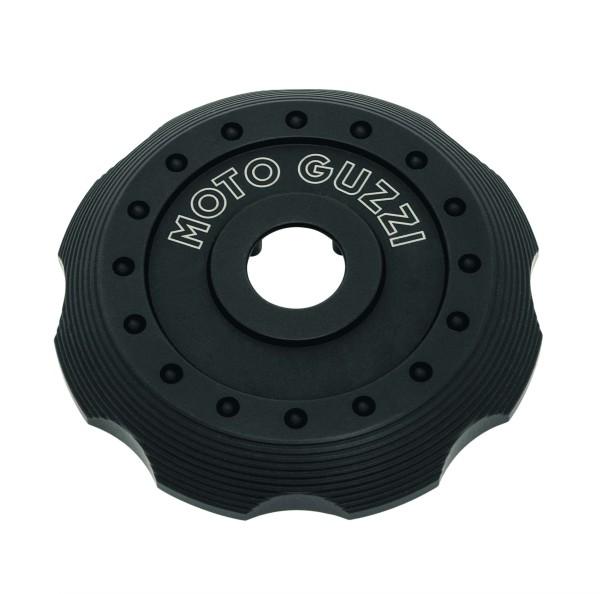 Tapa para tapón de llenado de combustible, aluminio negro para Moto Guzzi V7 III / V7 850