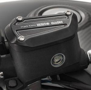 Cubierta, aluminio, negro para Moto Guzzi MGX 21