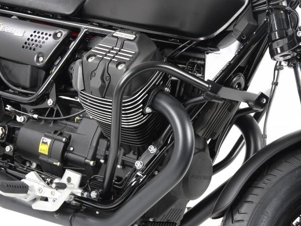 Barra de protección del motor negra para V 9 Bobber (Bj.16-) / Bobber Sport (Bj.19-) original Hepco & Becker