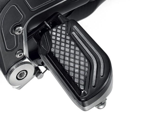 Funda de reposapiés, aluminio, negro para Moto Guzzi MGX 21
