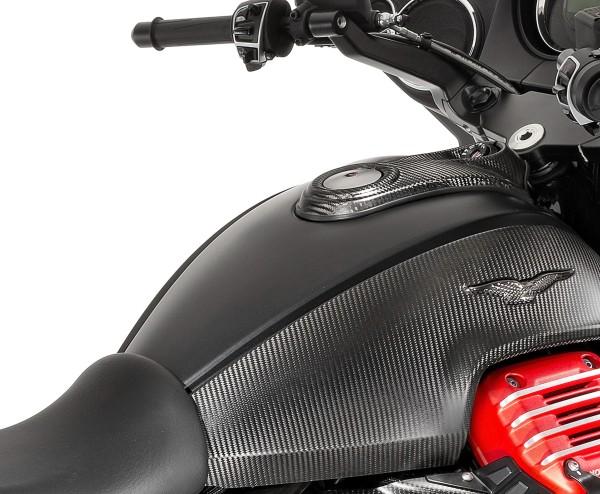 Tapa de depósito en carbono para Moto Guzzi MGX 21