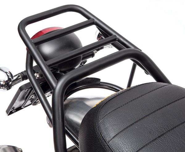 Portaequipajes, trasero, negro, rígido para Moto Guzzi V7 I + II, V7 III
