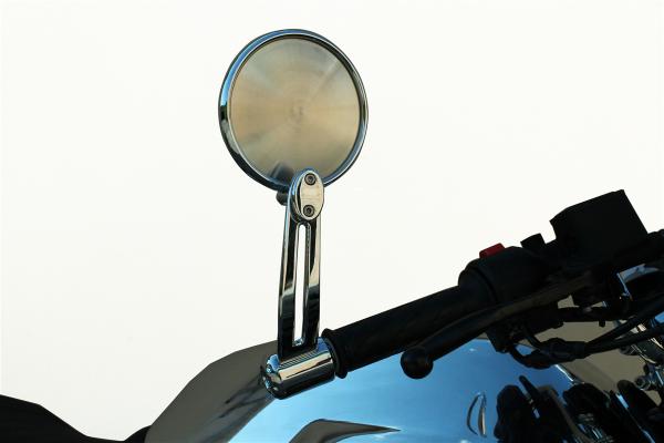 Espejo original, aluminio, plateado para Moto Guzzi V7 III