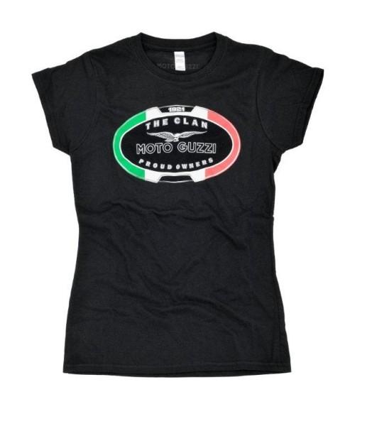 Camiseta mujer Moto Guzzi THE CLAN negro