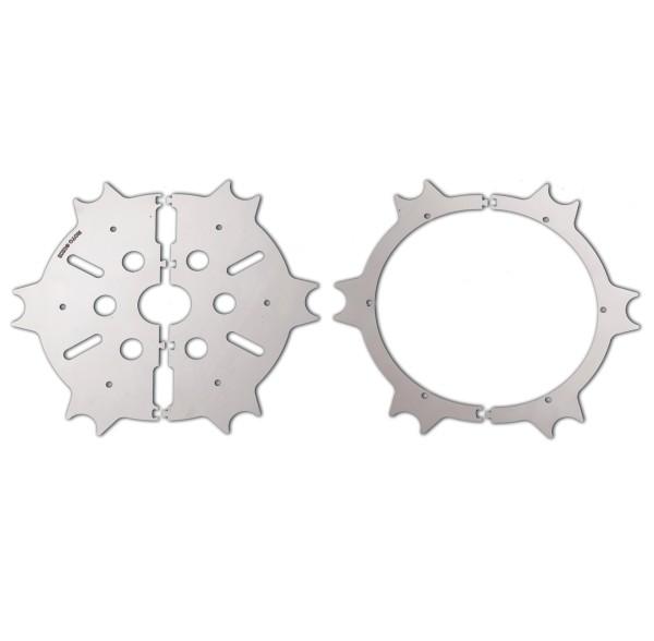 Tapa de disco de freno original, acero inoxidable, plateado, pulido para Moto Guzzi Eldorado