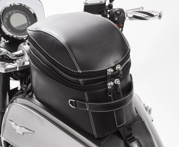 Bolsa de depósito original, piel, negra para Moto Guzzi Eldorado
