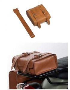 Funda de cuero original, marrón para Moto Guzzi V7 I + II