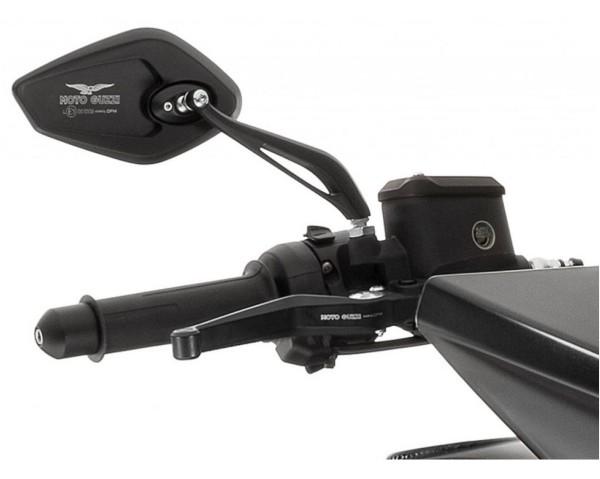 Espejo, juego, aluminio, negro para Moto Guzzi MGX 21