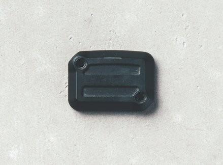 Tapa para depósito de líquido de frenos, aluminio, Dark Rider, negra para Moto Guzzi V7 III