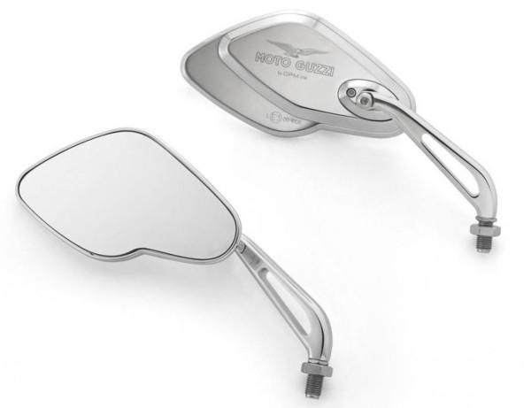 Espejo, juego, aluminio, cromado para Moto Guzzi California