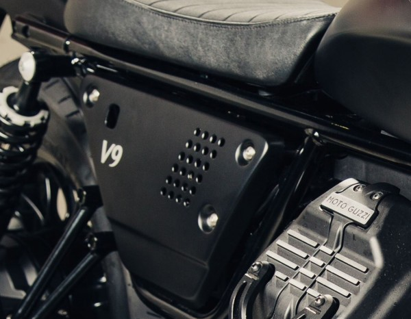 Juego de tapas laterales de aluminio negro Moto Guzzi V7 III / V9 Bobber