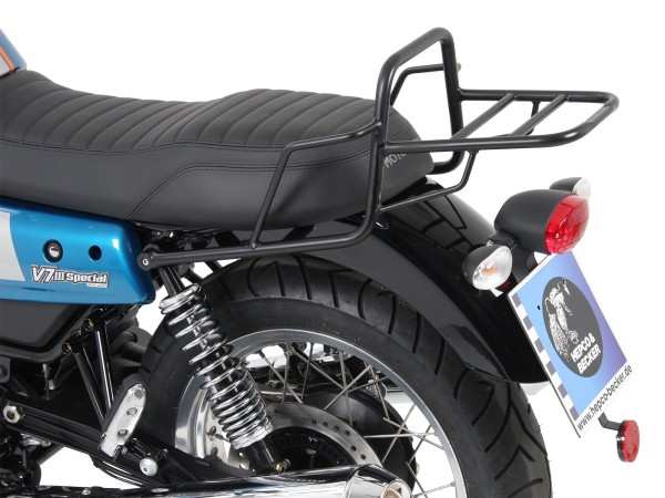 Portaequipajes tube portaequipajes topcase negro para V 7 III piedra / especial / Anniversario / Racer (Bj.17-)