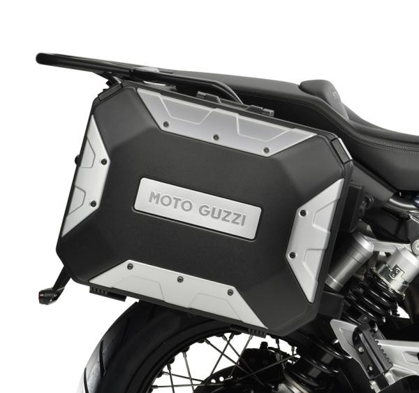 "Maleta lateral de aluminio (set) ""URBAN"" para Moto Guzzi V85 TT"