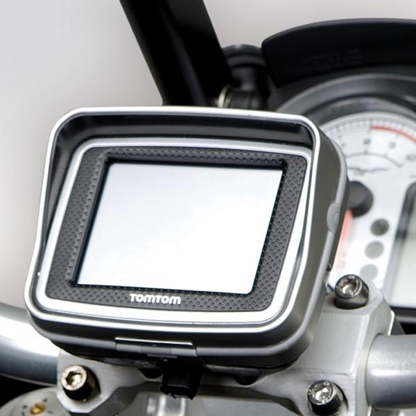 Soporte Moto Guzzi Stelvio para sistema de navegación Tom Tom Rider II