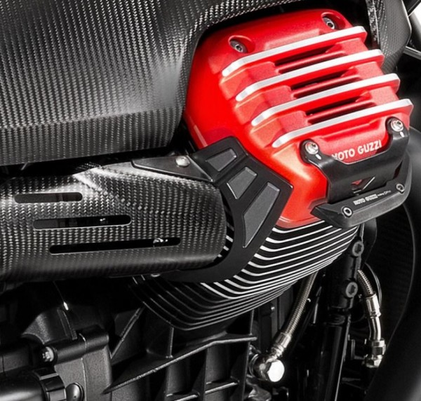 Protección térmica, acero inoxidable para Moto Guzzi MGX 21