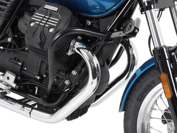 Barra de protección del motor negra para V 7 III piedra / especial / Anniversario / Racer (Bj.17-)