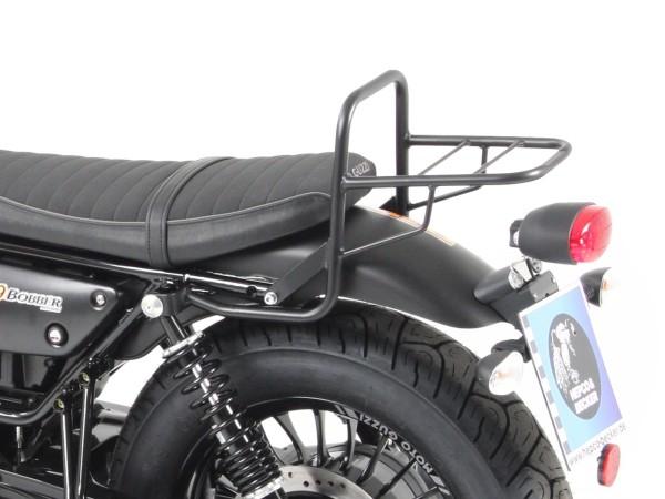 Portaequipajes tube portaequipajes superior negro para modelo V 9 Bobber (Bj.16-) con asiento corto