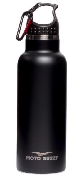 Botella Moto Guzzi aluminio negro