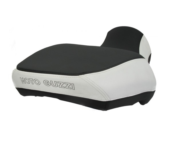 Asiento Moto Guzzi California Comfort, negro / blanco