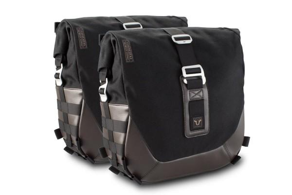 Sistema de bolsas laterales Legend Gear LC Black Edition para Moto Guzzi V9 Roamer / Bobber SW Motech