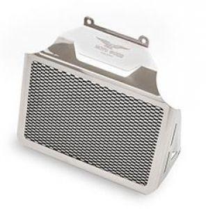 Tapa del radiador de aceite original, aluminio, plateado para Moto Guzzi Eldorado / California