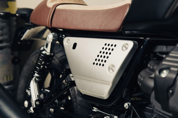 Juego de tapas laterales de aluminio plateado Moto Guzzi V7 III / V9 Bobber / Roamer