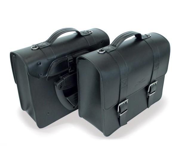 Bolsa lateral negra para Moto Guzzi V7 III / V9 Bobber / Roamer / Audace
