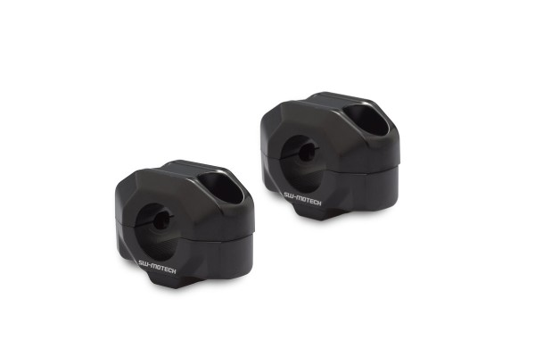 Elevador de manillar 15 mm negro para Moto Guzzi V7 III (16-) SW Motech