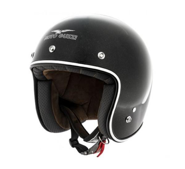 Casco Moto Guzzi Jet Metal Flank Casco Negro