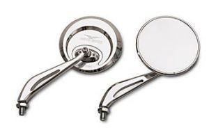 Espejo original, aluminio, plateado para Moto Guzzi Eldorado